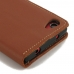 Sony Xperia Z5 Compact Leather Smart Flip Wallet Case (Brown) custom degsined carrying case by PDair