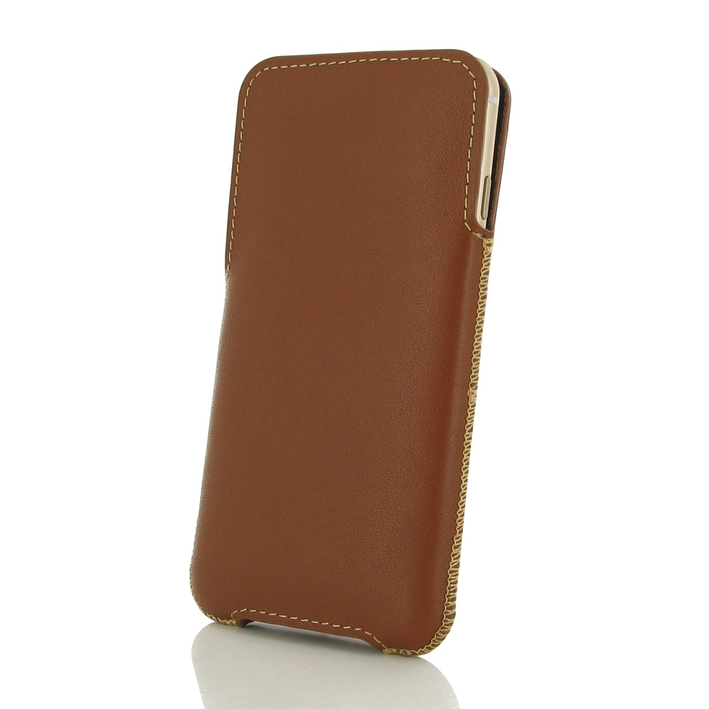 iphone 6 6s plus leather pocket pouch brown pdair sleeve. Black Bedroom Furniture Sets. Home Design Ideas
