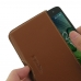 Acer Liquid Zest 4G Leather Wallet Pouch Case (Brown) custom degsined carrying case by PDair
