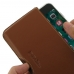 iPhone 7 (in Slim Cover) Leather Wallet Pouch Case (Brown) custom degsined carrying case by PDair
