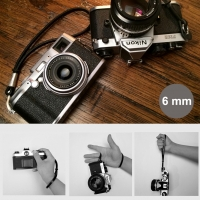 6mm Black Spain Leather Camera Wrist Grip Strap / Camera Hand Grip for Micro-single Camera