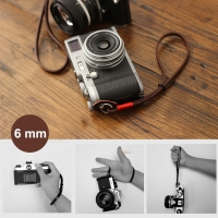 6mm Chocolate Brown Spain Leather Camera Wrist Grip Strap / Camera Hand Grip for Micro-single Camera