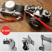 6mm Red Spain Leather Camera Wrist Grip Strap / Camera Hand Grip for Micro-single Camera