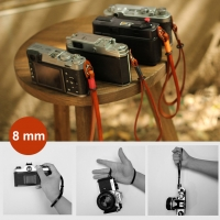 8mm Brown Spain Leather Camera Wrist Grip Strap / Camera Hand Grip for Micro-single Camera