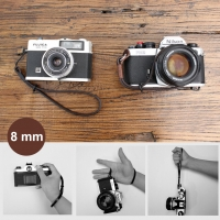 8mm Chocolate Brown Spain Leather Camera Wrist Grip Strap / Camera Hand Grip for Micro-single Camera