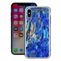 Natural Sea Shell Pattern Protective Fashion Case for Apple iPhone X | iPhone 10 (Fantasy Sand Pattern)