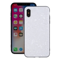 Natural Sea Shell Pattern Protective Fashion Case for Apple iPhone X | iPhone 10 (Crystal White)