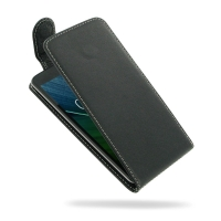 Acer Liquid Zest 4G Leather Flip Top Carry Case PDair Premium Hadmade Genuine Leather Protective Case Sleeve Wallet