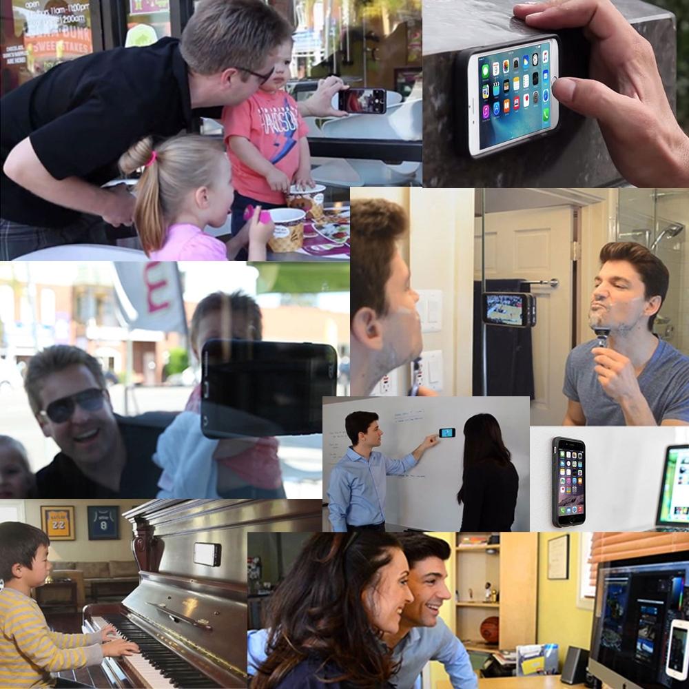 iPhone SE Anti-Gravity Selfie Silicone Case (Black) :: PDair 10% OFF