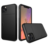 Armor Protective Case with Card Slot for Apple iPhone 11 (Black)