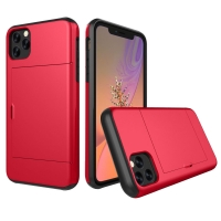 Armor Protective Case with Card Slot for Apple iPhone 11 (Red)