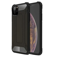 Hybrid Dual Layer Tough Armor Protective Case for Apple iPhone 11 (Black)