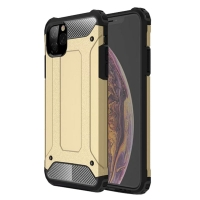 Hybrid Dual Layer Tough Armor Protective Case for Apple iPhone 11 (Gold)