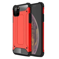 Hybrid Dual Layer Tough Armor Protective Case for Apple iPhone 11 (Red)