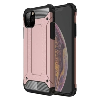 Hybrid Dual Layer Tough Armor Protective Case for Apple iPhone 11 (Rose Gold)