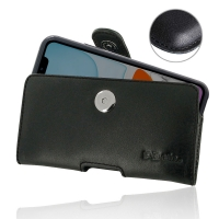 Leather Horizontal Pouch Case with Belt Clip for Apple iPhone 11 ( Compatible with 1.0 mm Slim Case / Cover on )  (Black Stitch)