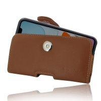 Leather Horizontal Pouch Case with Belt Clip for Apple iPhone 11 ( Compatible with 1.0 mm Slim Case / Cover on ) (Brown)
