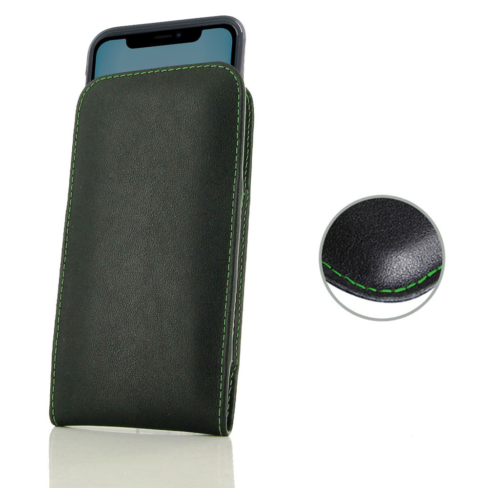 10% OFF + FREE SHIPPING, Buy the BEST PDair Handcrafted Premium Protective Carrying iPhone 11 (in Slim Cover) Pouch Case (Green Stitch). Exquisitely designed engineered for iPhone 11.