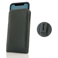 Leather Vertical Pouch Belt Clip Case for Apple iPhone 11 ( Compatible with 1.0 mm Slim Case / Cover on )