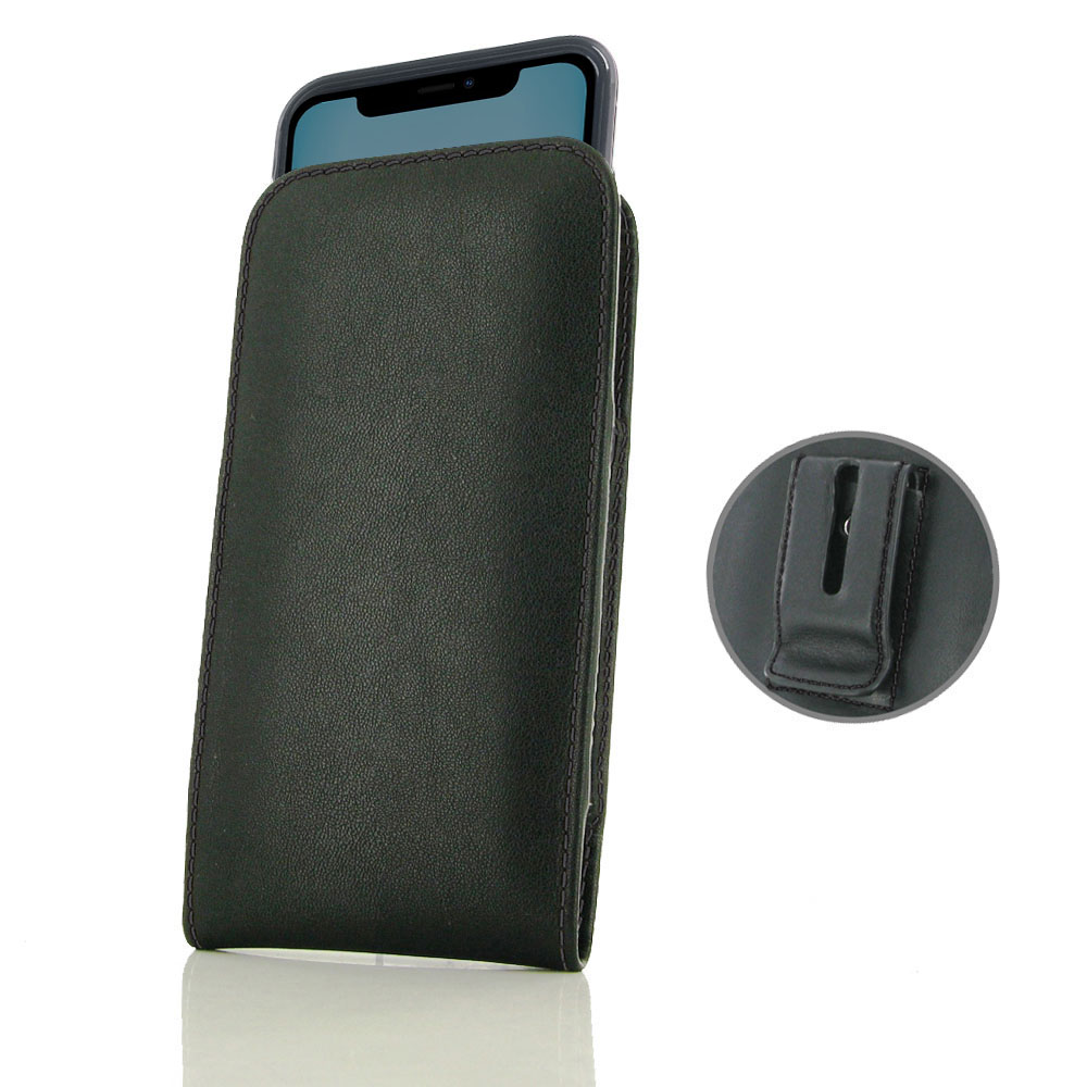 10% OFF + FREE SHIPPING, Buy the BEST PDair Handcrafted Premium Protective Carrying iPhone 11 (in Slim Cover) Pouch Clip Case (Black Stitch). Exquisitely designed engineered for iPhone 11.