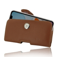 Leather Horizontal Pouch Case with Belt Clip for Apple iPhone 11 (Brown)