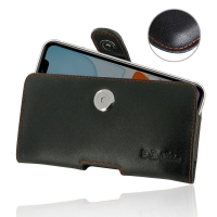 Leather Horizontal Pouch Case with Belt Clip for Apple iPhone 11 (Orange Stitch)