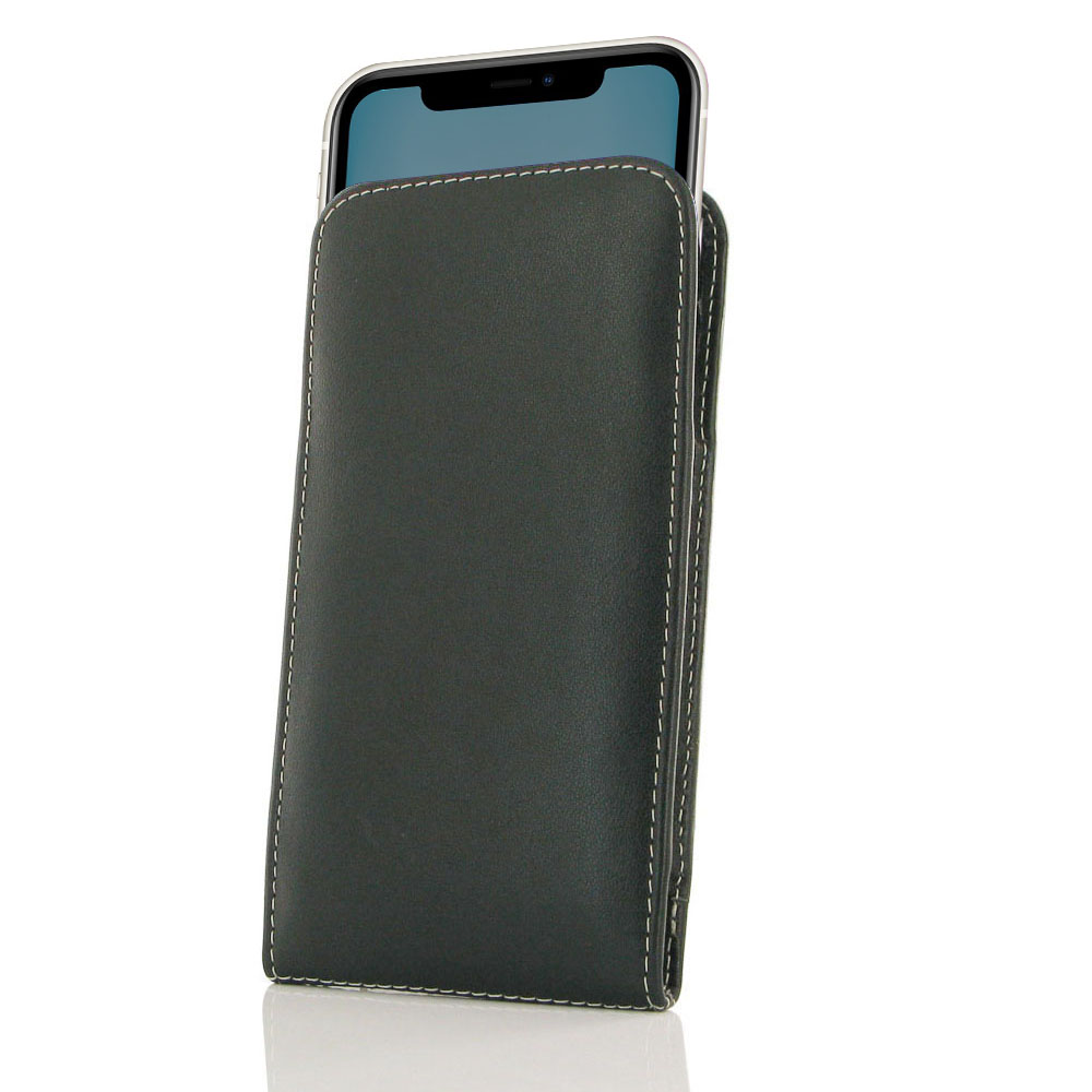 10% OFF + FREE SHIPPING,  Beautiful stitching, elaborate handcrafted and premium exclusive selected top quality full grain genuine leather coming together creates this extraordinary Apple iPhone 11 Leather Sleeve Pouch Case while adding luxury and full pr