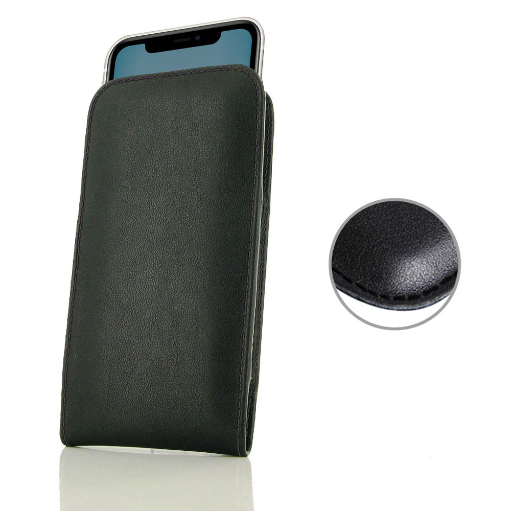 10% OFF + FREE SHIPPING, Buy the BEST PDair Handcrafted Premium Protective Carrying iPhone 11 Leather Sleeve Pouch Case (Black Stitch). Exquisitely designed engineered for iPhone 11.