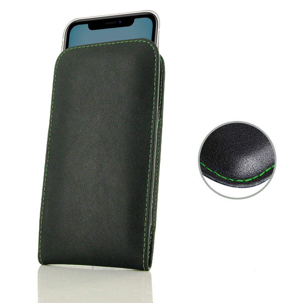 10% OFF + FREE SHIPPING, Buy the BEST PDair Handcrafted Premium Protective Carrying iPhone 11 Leather Sleeve Pouch Case (Green Stitch). Exquisitely designed engineered for iPhone 11.