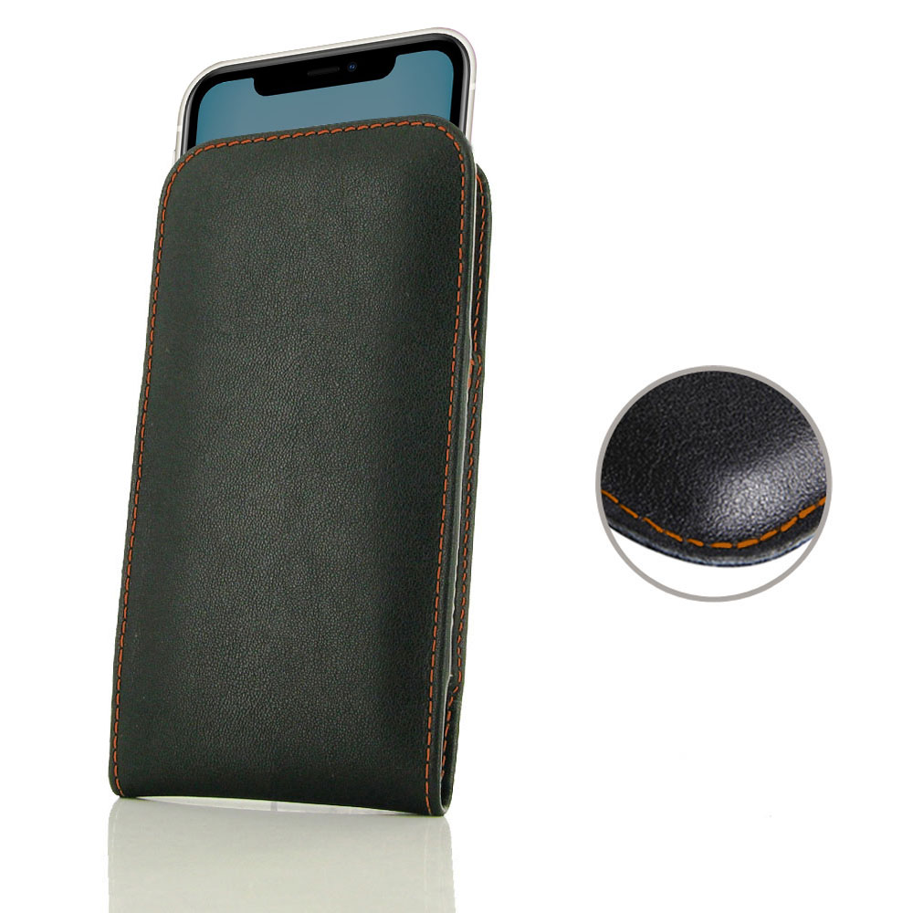 10% OFF + FREE SHIPPING, Buy the BEST PDair Handcrafted Premium Protective Carrying iPhone 11 Leather Sleeve Pouch Case (Orange Stitch). Exquisitely designed engineered for iPhone 11.