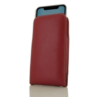 Leather Vertical Pouch Case for Apple iPhone 11 (Red)