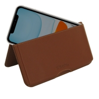 Leather Wallet Pouch for Apple iPhone 11 (Brown)