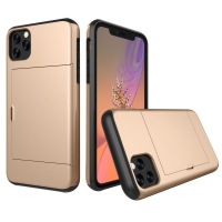 Armor Protective Case with Card Slot for Apple iPhone 11 Pro (Gold)