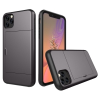 Armor Protective Case with Card Slot for Apple iPhone 11 Pro (Grey)