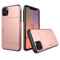Armor Protective Case with Card Slot for Apple iPhone 11 Pro (Rose Gold)