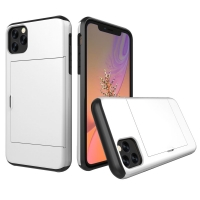 Armor Protective Case with Card Slot for Apple iPhone 11 Pro (Silver)
