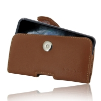 Leather Horizontal Pouch Case with Belt Clip for Apple iPhone 11 Pro( Compatible with 1.0 mm Slim Case / Cover on ) (Brown)