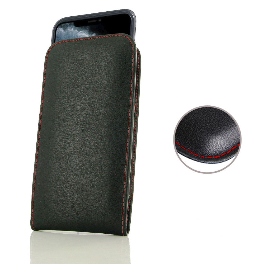 10% OFF + FREE SHIPPING, Buy the BEST PDair Handcrafted Premium Protective Carrying iPhone 11 Pro (in Slim Cover) Pouch Case (Red Stitch). Exquisitely designed engineered for iPhone 11 Pro.