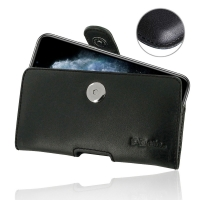 Leather Horizontal Pouch Case with Belt Clip for Apple iPhone 11 Pro (Black Stitch)