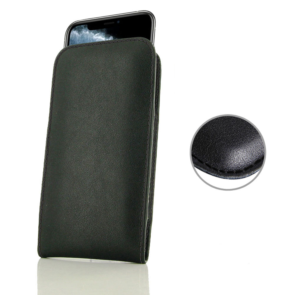 10% OFF + FREE SHIPPING, Buy the BEST PDair Handcrafted Premium Protective Carrying iPhone 11 Pro Leather Sleeve Pouch Case (Black Stitch). Exquisitely designed engineered for iPhone 11 Pro.