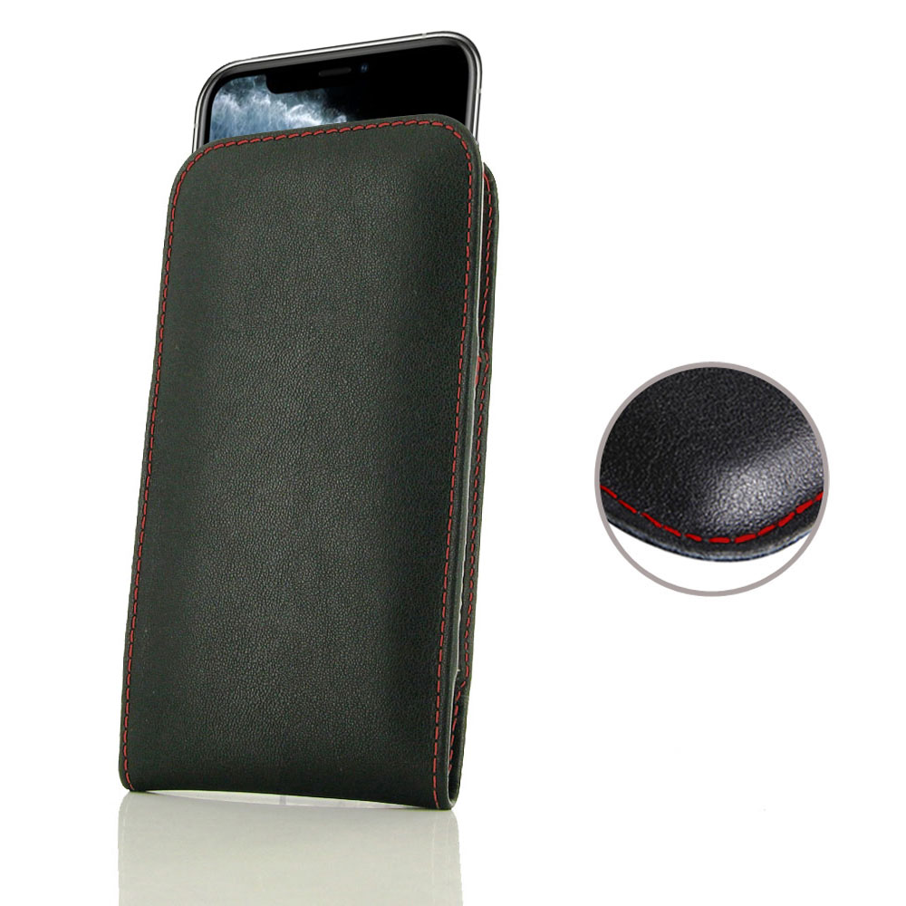 10% OFF + FREE SHIPPING, Buy the BEST PDair Handcrafted Premium Protective Carrying iPhone 11 Pro Leather Sleeve Pouch Case (Red Stitch). Exquisitely designed engineered for iPhone 11 Pro.