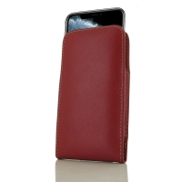 Leather Vertical Pouch Case for Apple iPhone 11 Pro Max  (Red)