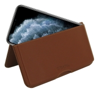 Leather Wallet Pouch for Apple iPhone 11 Pro Max  (Brown)
