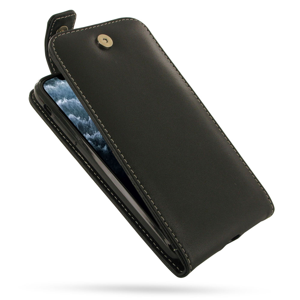 iPhone 11 Pro Max Leather Flip Top Wallet Case is custom designed to fit your needs either in functionality or quality, using PDair classic and traditional conception of design philosophy. Multiple openings give you the freedom of using the basic function