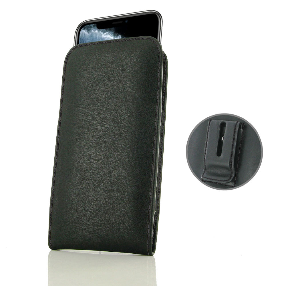 10% OFF + FREE SHIPPING, Buy the BEST PDair Handcrafted Premium Protective Carrying iPhone 11 Pro Pouch Case with Belt Clip (Black Stitch). Exquisitely designed engineered for iPhone 11 Pro.