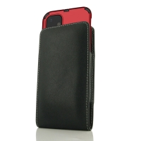 Leather Vertical Pouch Case for Apple iPhone 11 (in Large Size Armor Protective Case Cover)