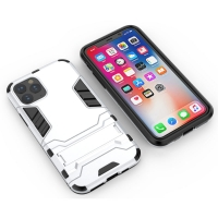 Apple iPhone 11 Tough Armor Protective Case (Silver)