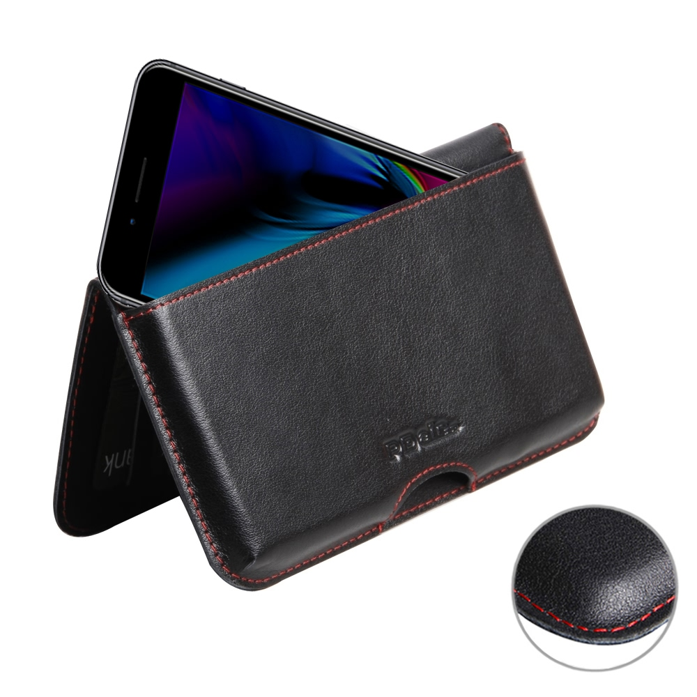 new product d7403 a7b96 iPhone 8 Plus Holster Pouch Wallet Sleeve PDair Folio Filp Case
