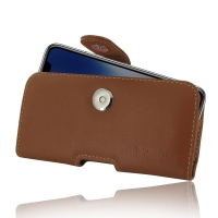 Leather Horizontal Pouch Case with Belt Clip for Apple iPhone X | iPhone 10 (Brown)