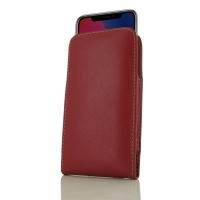 Leather Vertical Pouch Case for Apple iPhone X | iPhone 10 (Red)